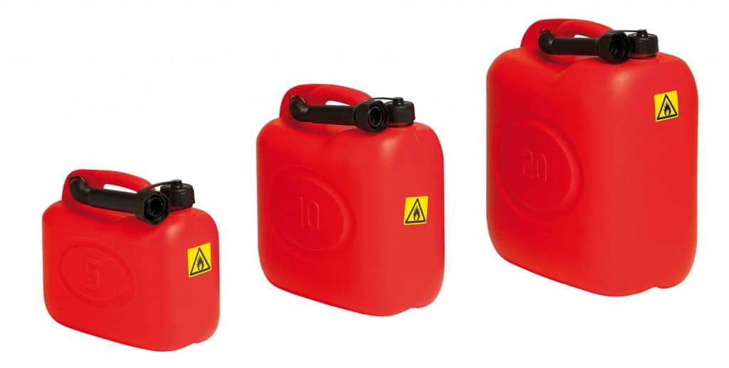 plastic petrol jerry can