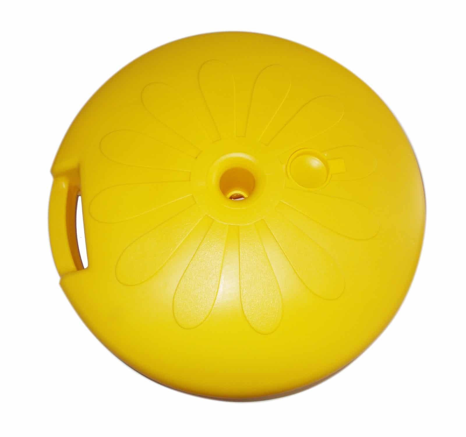 base-ombrellone-tonda-gialla