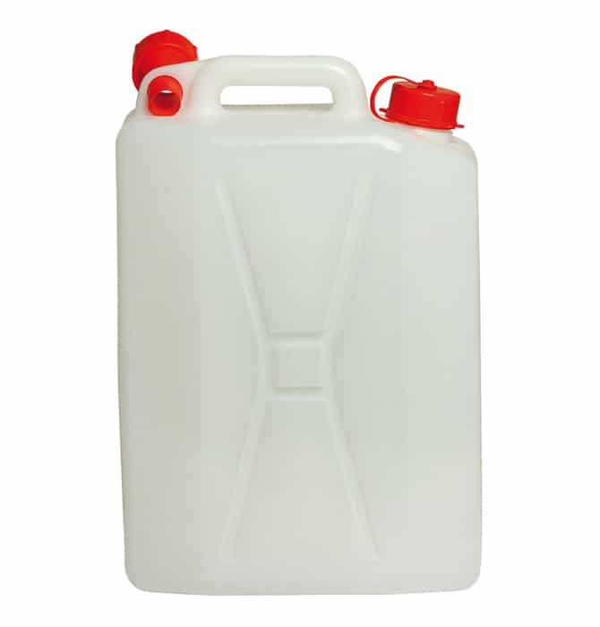 Plastic water jerry cans